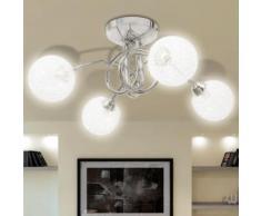 vidaXL Plafonnier avec abat-jour en fils métalliques 4 ampoules G9