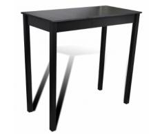 vidaXL Table de bar Noir MDF 115 x 55 107 cm