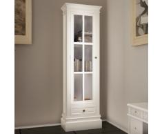 vidaXL Armoire vitrine avec un tiroir