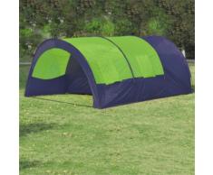 vidaXL Tente de camping 6 personnes Bleu et Vert