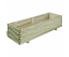 vidaXL Jardinière en bois rectangulaire 120 x 40 30 cm