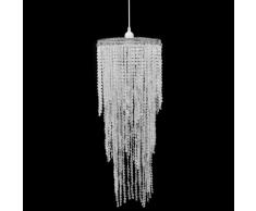 vidaXL Lustre suspendu en cristal 26 x 70 cm