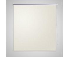 vidaXL Store enrouleur occultant crème 40 x 100 cm