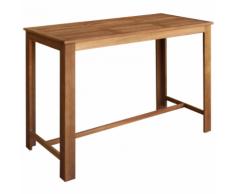 vidaXL Table de bar 150x70x105 cm Bois d'acacia massif