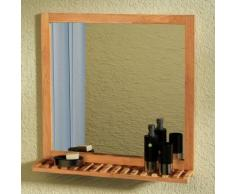 vidaXL Miroir de salle bain Bois noyer massif 60 x 63 cm