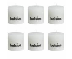 Bolsius bougie cylindre 6 pièces 100 x mm en blanc