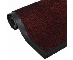 vidaXL Tapis rectangulaire antidérapant 120 x 90 cm Rouge