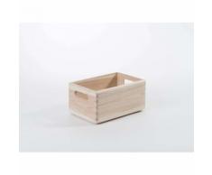 Compactor Casier « Box », en pin naturel, taille S