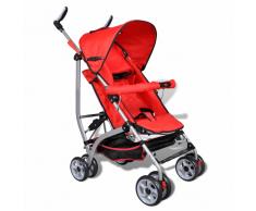 vidaXL Poussette pour bébé inclinable en 5 positions rouge