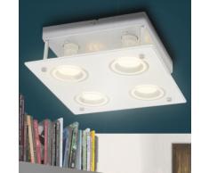 vidaXL Plafonnier Carré LED avec 4 ampoules