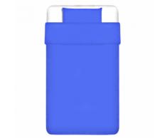 vidaXL 2 pièces housse de couette en coton Bleu 155x220/80x80 cm