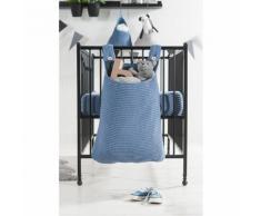 Jollein Sac de rangement pour aire jeu 40 x 10 50 cm Bleu Tricot lourd