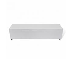 vidaXL Banc banquette coffre de rangement blanc taille large