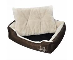 vidaXL Panier chaud pour chien avec coussin rembourré L