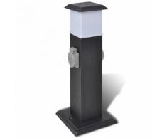 vidaXL Borne jardin électrique 2 prises avec Lampe