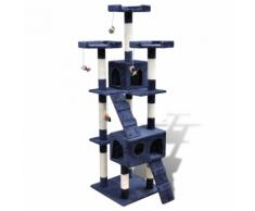 vidaXL Arbre à chat 170 cm en bleu foncé2 niches