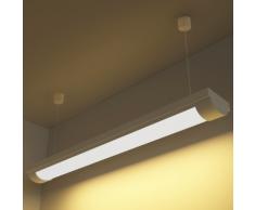 vidaXL Lampe Led au Plafond Blanc Chaud avec accessoire de montage 14 W