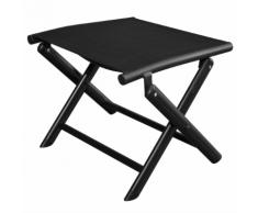 vidaXL Repose-pied pliable 41 x 49,5 38 cm Aluminium Noir