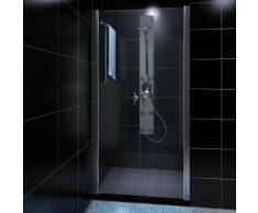 vidaXL Cabine de douche avec porte en verre 80 cm