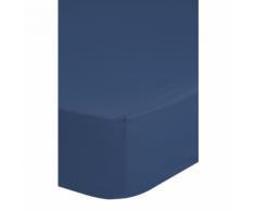Emotion Drap-housse sans repassage 180 x 200 cm Bleu 0220.24.46
