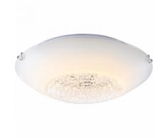 GLOBO Plafonnier LED DELPHI Verre Blanc 4041466