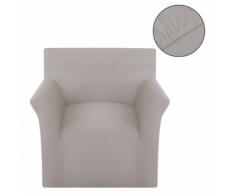 vidaXL housse de canapé en coton jersey extensible beige