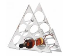 vidaXL Casier à bouteilles en aluminium pour 6 avec table Argent