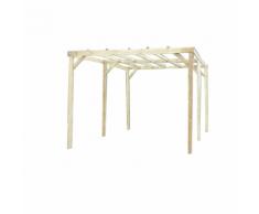 Habrita HABRITA - Carport en bois autoclavé toit plat