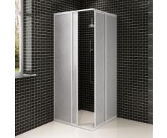 vidaXL Cabine de douche en aluminium 80 x 90 cm