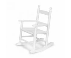 CHILDWOOD Chaise à bascule pour enfants Blanc RCKW2