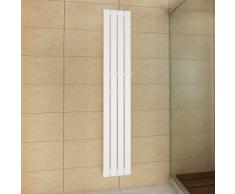 vidaXL Porte-serviette 311mm + Radiateur panneau blanc x 1800mm