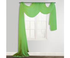 vidaXL Voilage drapé vert 140 x 600 cm