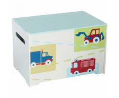 Worlds Apart Coffre à jouets 60 x 39 cm Blanc WORL230004