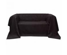 vidaXL Housse Micro-suède de canapé Brun 210 x 280 cm