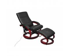 vidaXL Fauteuil de relaxation massant électrique noir