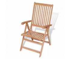 vidaXL Chaise inclinable de jardin Bois teck