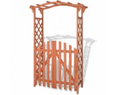 vidaXL Arche pour jardin avec portique en bois de sapin 120x60x193 cm