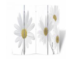 vidaXL Paravent 160 x 180 fleurs