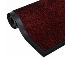 vidaXL Tapis rectangulaire antidérapant 150 x 90 cm Rouge
