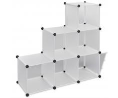 vidaXL Étagère blanche à 6 compartiments cubiques 110 x 37 cm