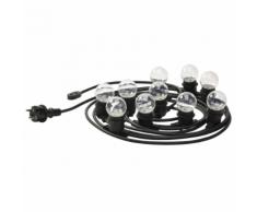 Luxform Guirlande lumineuse avec 10 LED Transparent W LUX09920