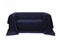 vidaXL Housse Micro-suède de canapé Blue marine 210 x 280 cm