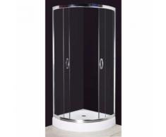 vidaXL Cabine de douche ronde 80 cm Châssis en aluminium
