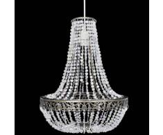 vidaXL Lustre suspendu en cristal 36,5 x 46 cm