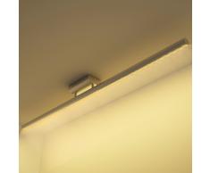 vidaXL Plafonnier rectiligne en acier inoxydable LED Blanc chaud 12 W