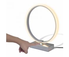vidaXL Lampe LED de table en forme d'anneau Blanc