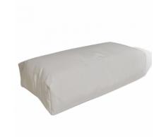 vidaXL Coussin pour le dos 80 x 40 20 cm Sable blanc