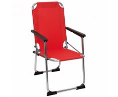 Camp Gear Chaise de camping pliable pour enfants Rouge Aluminium