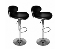 vidaXL Tabouret noir design Galaxie (lot de 2)