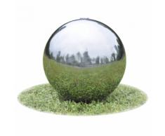 vidaXL Fontaine de jardin sphère avec LED en acier inoxydable 30 cm